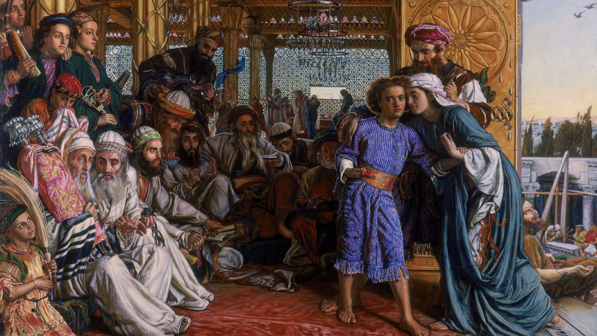 The Finding of the Savior in the Temple (1854–1860) by William Holman Hunt (1827 – 1910)