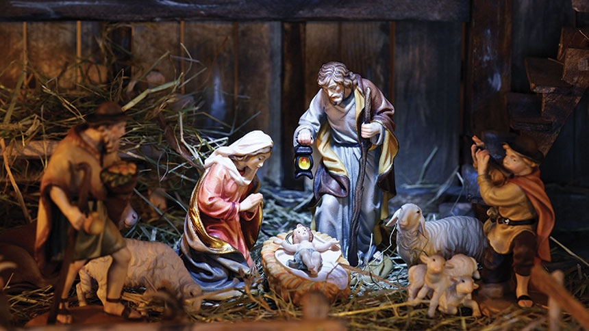 Znalezione obrazy dla zapytania christmas manger scene
